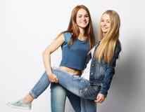 2 друз маленькой девочки стоя совместно и имея потеху Стоковое Фото