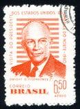 Дуайт Эйзенхауэр Дуайт Эйзенхауэр напечатал Бразилией Стоковая Фотография RF
