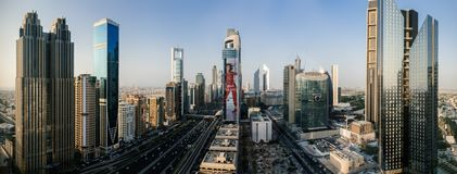Дубай городской, Объединенные эмираты стоковая фотография rf