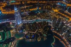 Дубай на ноче Стоковые Фотографии RF