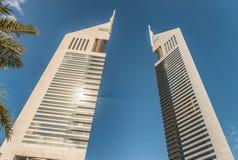 ДУБАЙ, ОАЭ - 10-ое декабря 2016 - Башни Близнецы эмиратов, Дубай, de Стоковое Изображение RF