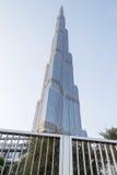 ДУБАЙ, ОАЭ - 11-ОЕ МАЯ 2016: Башня Burj Khalifa Стоковые Изображения RF