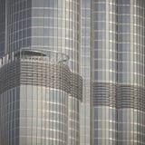ДУБАЙ, ОАЭ - 19-ОЕ ЯНВАРЯ 2017: Деталь самого высокого строя o Стоковая Фотография