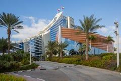 ДУБАЙ, ОАЭ 15-ОЕ ЯНВАРЯ: Небоскребы в центре города на января Стоковое фото RF