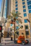 ДУБАЙ, ОАЭ 16-ОЕ ЯНВАРЯ: Небоскребы в центре города на января Стоковое Фото