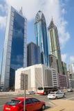 ДУБАЙ, ОАЭ 16-ОЕ ЯНВАРЯ: Небоскребы в центре города на января Стоковое фото RF