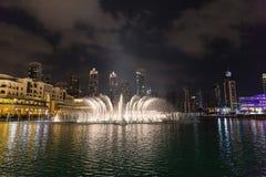 ДУБАЙ, ОАЭ 16-ОЕ ЯНВАРЯ: Небоскребы в центре города на января Стоковое Изображение