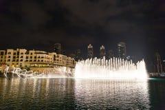 ДУБАЙ, ОАЭ 16-ОЕ ЯНВАРЯ: Небоскребы в центре города на января Стоковые Фото