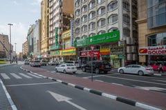 ДУБАЙ, ОАЭ 18-ОЕ ЯНВАРЯ: Небоскребы в центре города на января Стоковое фото RF