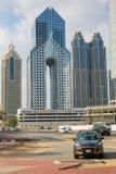 ДУБАЙ, ОАЭ 16-ОЕ ЯНВАРЯ: Небоскребы в центре города на января Стоковая Фотография