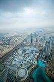 ДУБАЙ, ОАЭ 19-ОЕ ЯНВАРЯ: Небоскребы в центре города на января Стоковые Фотографии RF