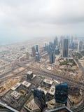 ДУБАЙ, ОАЭ 19-ОЕ ЯНВАРЯ: Небоскребы в центре города на января Стоковые Фото