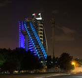 ДУБАЙ, ОАЭ 19-ОЕ ЯНВАРЯ: Небоскребы в центре города на января Стоковая Фотография RF