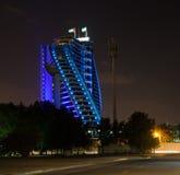ДУБАЙ, ОАЭ 19-ОЕ ЯНВАРЯ: Небоскребы в центре города на января Стоковое Изображение