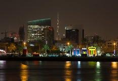 ДУБАЙ, ОАЭ 18-ОЕ ЯНВАРЯ: Традиционные паромы Abra 18-ого,2 января Стоковое Изображение RF