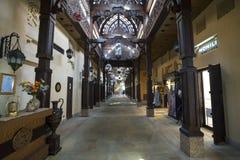 ДУБАЙ, ОАЭ - январь 05,2018: Магазины на Ara Madinat Jumeirah Стоковое Фото