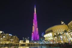 ДУБАЙ, ОАЭ - январь 06,2018: Небоскреб Burj Khalifa в почти Стоковая Фотография RF