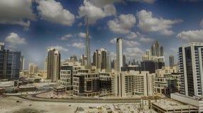 ДУБАЙ - 12-ОЕ ДЕКАБРЯ 2016: Вид с воздуха городского Дубай Дубай Стоковая Фотография RF