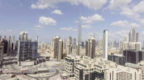 ДУБАЙ - 12-ОЕ ДЕКАБРЯ 2016: Вид с воздуха городского Дубай Дубай Стоковое фото RF