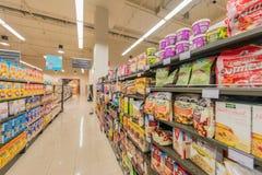 Дубай - 7-ое января 2014: Супермаркет Waitrose Дубай 7-ого января Стоковое Изображение RF