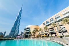 Дубай - 10-ое января 2015: Burj Khalifa на января Стоковые Фотографии RF
