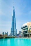 Дубай - 10-ое января 2015: Burj Khalifa на января Стоковое фото RF