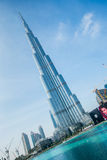 Дубай - 10-ое января 2015: Burj Khalifa на января Стоковая Фотография