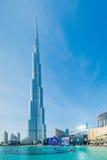 Дубай - 10-ое января 2015: Burj Khalifa на января Стоковое Фото