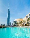 Дубай - 10-ое января 2015: Burj Khalifa на января Стоковая Фотография RF
