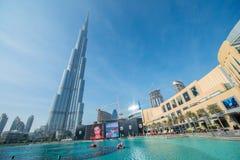 Дубай - 10-ое января 2015: Burj Khalifa на января Стоковые Изображения RF