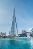 Дубай - 10-ое января 2015: Burj Khalifa на января Стоковые Изображения