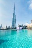 Дубай - 10-ое января 2015: Burj Khalifa на января Стоковое Изображение RF