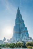 Дубай - 10-ое января 2015: Burj Khalifa на января Стоковое Изображение