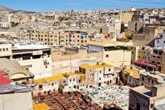 дубильни Марокко fes Стоковые Изображения