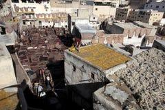 дубильня Марокко fes кожаная Стоковое Фото