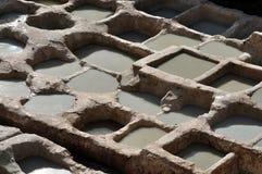 дубильня Марокко fes традиционная Стоковое Фото