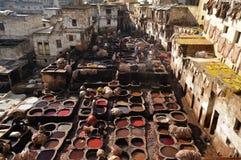 дубильня Марокко fes Стоковые Фотографии RF