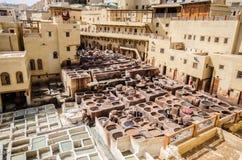 Дубильня Chouara, Fez, Марокко стоковые фотографии rf