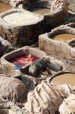 Дубильни Chouwara, Fes Марокко Стоковая Фотография RF