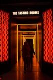 ДУБЛИН, ИРЛАНДИЯ - 7-ОЕ ФЕВРАЛЯ 2017: Люди посещая пробуя комнату внутри StoreHouse Гиннесса в Дублине стоковое фото