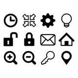 дублирование красит комплект связи включенный иконой цепная сеть замка икон иллюстрация вектора