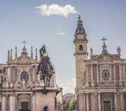 Дублирует церков в аркаде Турина стоковые изображения