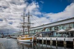 Дублируйте masted парусное судно дама Нельсон в Хобарте, Тасмании Стоковое Фото