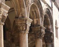 Дубровник, дворец Knezeva Palata-The Rectorстоковые изображения