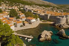 Дубровник - жемчуг Адриатического моря стоковое изображение rf