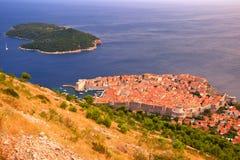 Дубровник, известное touristic назначение Хорватия стоковые изображения rf