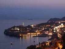 Дубровник на заходе солнца, Хорватии Стоковые Фото