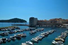 Дубровник, старый порт городка Стоковое Изображение RF