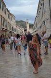 Дубровник, Хорватия, город внутри стены стоковое изображение rf
