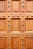 дуб двери замка Стоковая Фотография